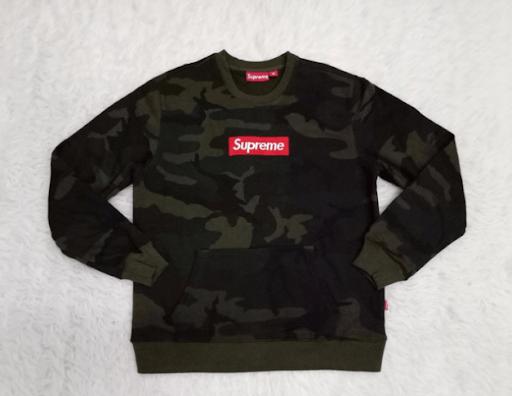 A counterfeit Supreme jumper